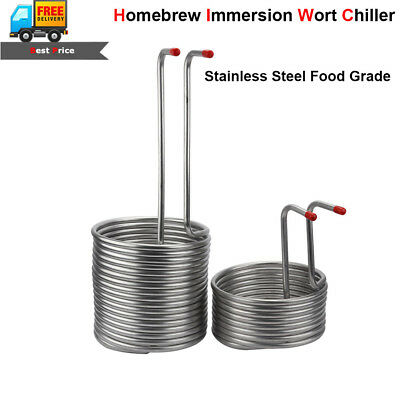 4 Sizes Double Layer Stainless Immersion Wort Chiller Cooler for Home Brew Beer