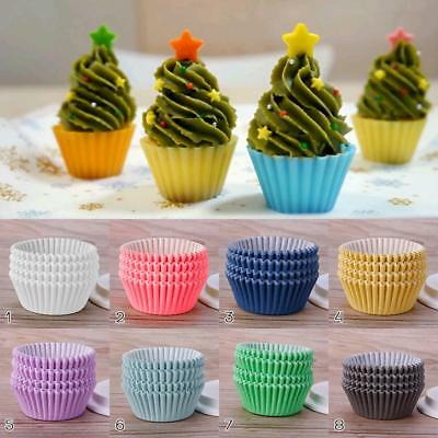 100PCS Mini Paper Cupcake Case Wedding Wrapper Muffin Liners Baking Cups jzus