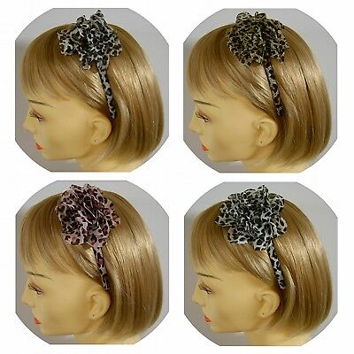 Haarreif Fascinator - Rockabilly - Animalprint - 4 Farben - NEU