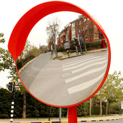 1X 45cm Wide Angle Security Curved Convex Road Mirror Traffic Signal Roadway