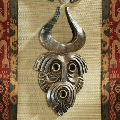 Ancient Tribal Art African Cameroon Mask Exotic Wall Sculpture Replica