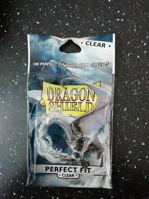 100 Bustine Protettive  PERFECT FIT Clear - Dragon Shield - Magic Pokemon FOW