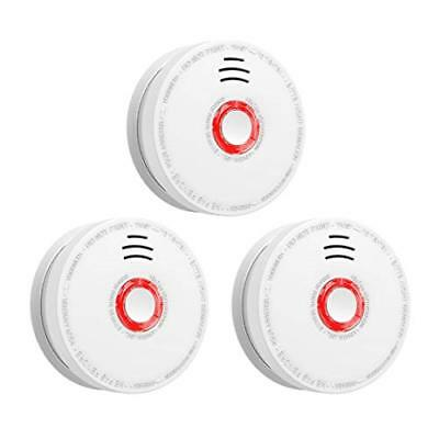 SITERWELL Smoke Detector Fire Alarm 3 Pack DC 9V Battery Fire Detector Home etc