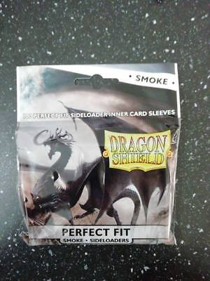 100 Bustine Protettive  PERFECT FIT Smoke Side  -Dragon Shield-Magic Pokemon FOW
