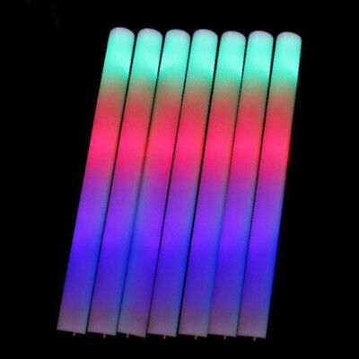Glow Light Sticks Christmas Wand Flashing Multi-color Neon Party Stick New