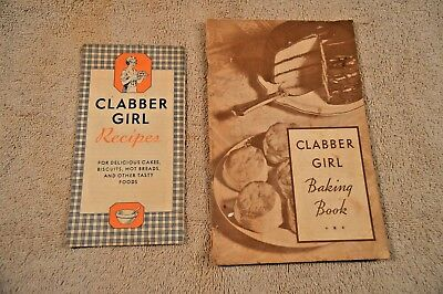 Vintage Clabber Girl Baking Powder Recipe Book and promotional flyer -1934