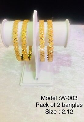 Indian Gold Plated Bangles Lastest Design Big Size 2.12 Cheapest Price On Ebay