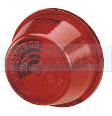 Round Red Side Marker Light Lamp Replacement Lens Trailer Tractor Truck Lorry
