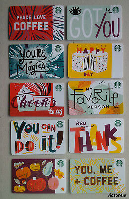 Starbucks Card 2018 Fall Recycled 10-Card Set
