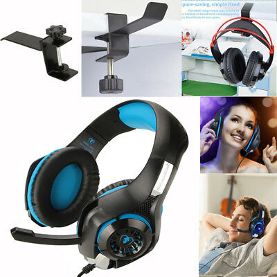 Gaming Headset Mic Stereo Surround Headphone 3.5mm For PS4 Xboxone + Holder