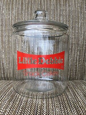 Vintage Little Debbie Snack Cakes Glass Cookie Jar Counter Display