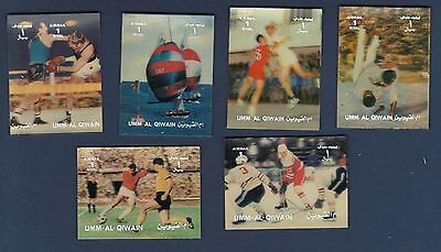 UAE United Arab Emirates UMM ALL QIWAIN 3D Stamps Set SPORT