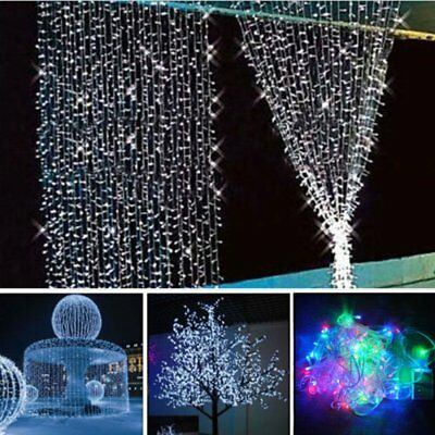 10M 100 LED Fairy Curtain String Light Xmas Christmas Wedding Party Connectable