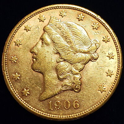 1906 S $20 American Liberty Head Gold Double Eagle Nice Collector Coin >LHDE0605