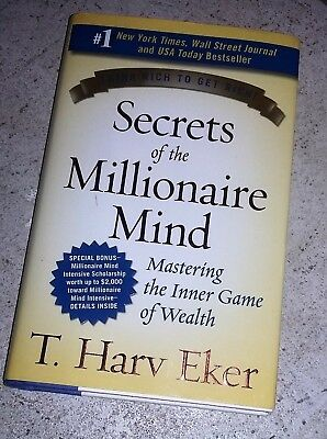 Secrets Of The Millionaire Mind T Harv Eker Signed Hardcover
