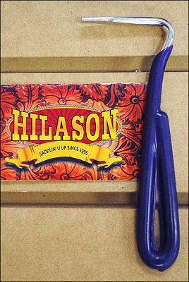 Purple Hilason Horse Tack Zinc Plated Hoof Pick With Vinyl Coated Handle