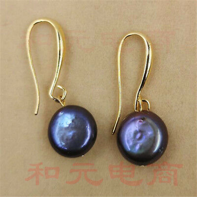 Gold hooks 11-13MM HUGE baroque pearl earrings 18K GOLD  TwoPin natural HUGE