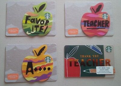 Starbucks Card 2018 Teacher Set