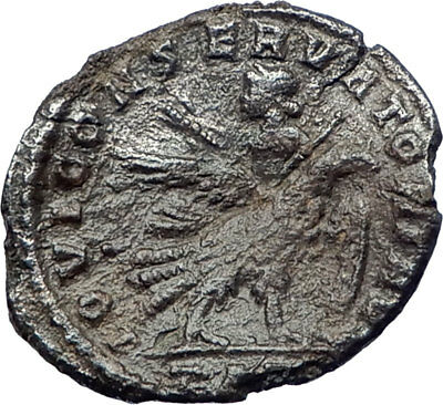 LICINIUS I 318AD Ancient Genuine Roman Coin ZEUS riding EAGLE  i73376