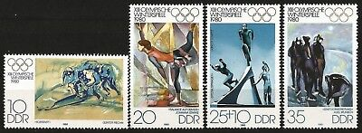 Germany (East) DDR 1980 MNH - Sports - Winter Olympic Games Lake Placid