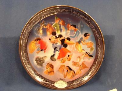 N36 VINTAGE Disney ONCE UPON A KISS 1988 Plate BRADFORD EXCHANGE Limited Edition