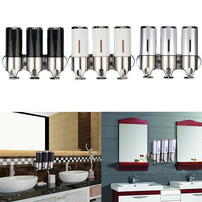 500ML Wall Mounted Soap Dispenser Stainless Steel Shower Pump for Bathroom Hotel