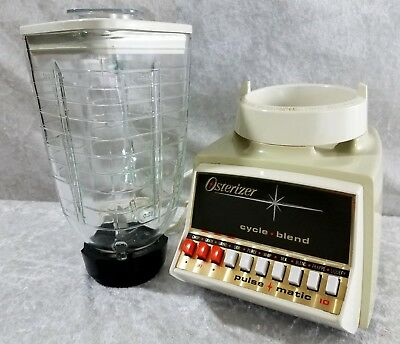 Vintage Osterizer Blender Cycle Blend Pulse Matic 10 Speed Glass 1970's & 1980's