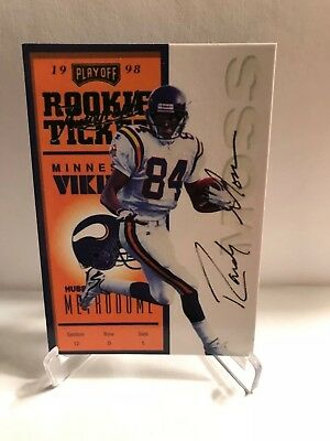 1998 Playoff Contenders Randy Moss Rookie Ticket Auto Vikings Novelty