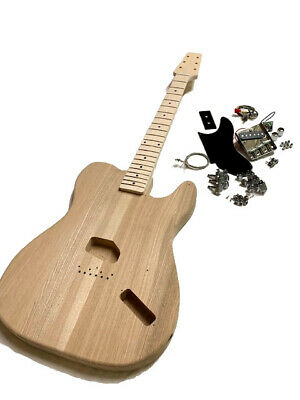 New 1950 Tele Snakehead Esquire Electric Guitar Builder Kit Everything Included