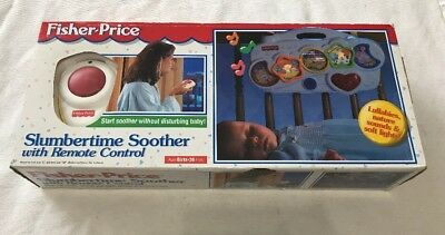 Vintage 1997 Fisher Price Slumbertime Soother & Remote Control Toy Baby NEW