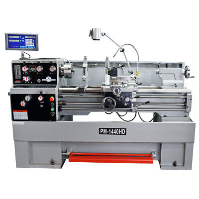 Pm-1440Hd 14X40″ Heavy Duty Metal Lathe W/dro 3 Phase  Free Shipping!