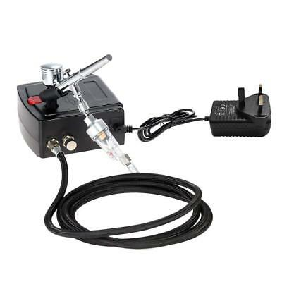 KKmoon Airbrush Gravity Feed Dual Action Air Compressor Kit for Art Painting Tat