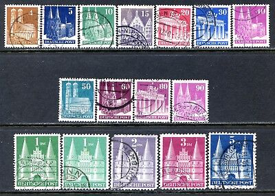 Germany Postage Stamps Scott 634-660, Used Part Set - Perf 11 Stamps!! G1148b