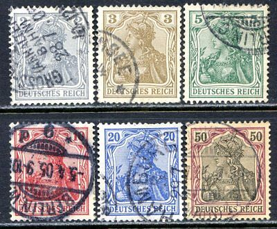 Germany Postage Stamps Scott 65C, 66-69, 73, Used Partial Set!! G1603b