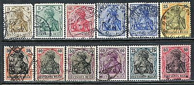 Germany Postage Stamps Scott 81-91, 84b, Used Partial Set!! G1604a