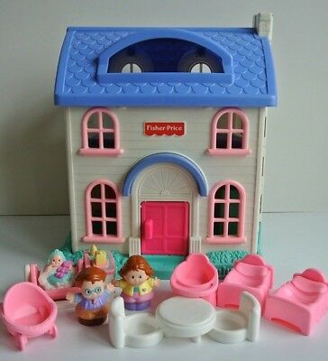 1996 Fisher Price Little People Doll House 2511 Complete Working