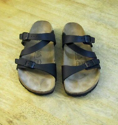 ff400e66ab27 BIRKI S BY BIRKENSTOCK Black Double Buckle Sandals Slides Women s 37 ...