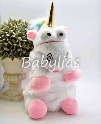 Unicorn Plush Backpack Animal Rainbow Bag Stuffed Animal Doll Toddler Cute