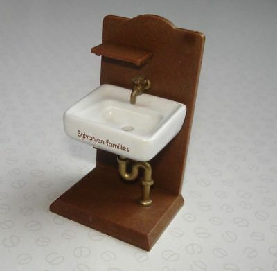 Sylvanian Families Vintage Accessories Epoch 1986 - Ceramic Bathroom Sink Unit