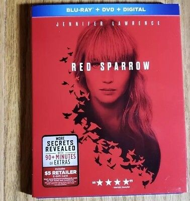 Red Sparrow Blu Ray Dvd 2 Disc Set + Slipcover Sleeve Free Shipping
