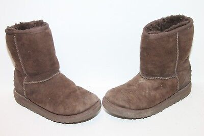 d7ddd88a6d3 UGG KID'S YOUTH Classic Short 5251T Sheepskin Boots Brown Youth Size ...