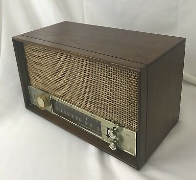 Zenith Vtg Long Distance Tube Radio T-350 Nice Wood Case Works GREAT 1940s 1950s
