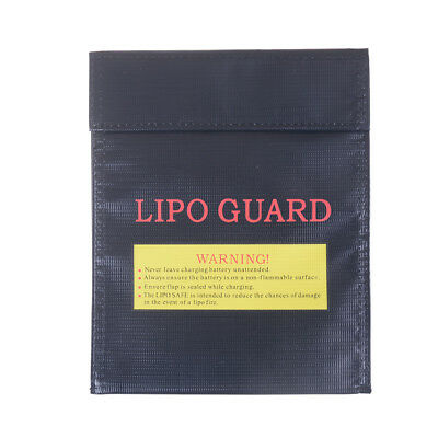 Black Fireproof RC LiPo Battery Safety Bag Safe Guards Charge Bag Sack W PQ