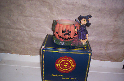 boyds collection-SUZIE PURRSTONES-HALLOWEEN -RETIRED-M.C.-BEARSTONE COLLECTION