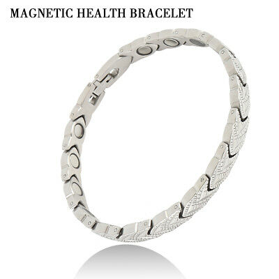 Ladies Alloy Magnetic Health Care Bracelet Bangle Therapy Arthritis Pain Relief