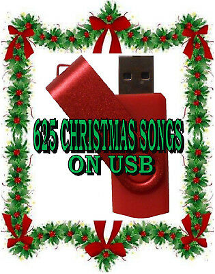 USB Music, 625 Christmas Songs, R&B Soul Blues Christian - MP3's
