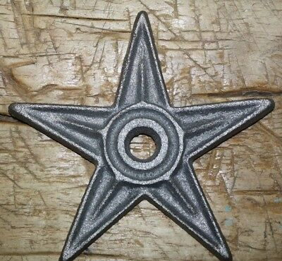 5 LG Cast Iron Stars Architectural Stress Washer Texas Lone Star Rustic Ranch 6""