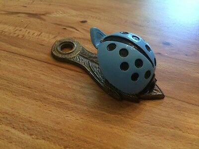 Vintage Brass Ladybug Clip Blue - Allies Brass Metal Office Home