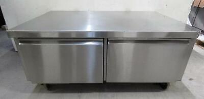 Qualserv 53x36x24 Stainless Steel 2 Drawer Mobile Stand prep table cabinet