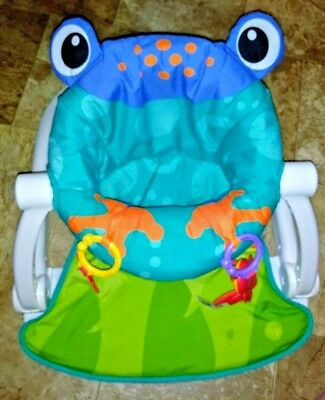 Frog Sit- me- up floor seat, for baby, Colorful,washable mat, w/ play toys
